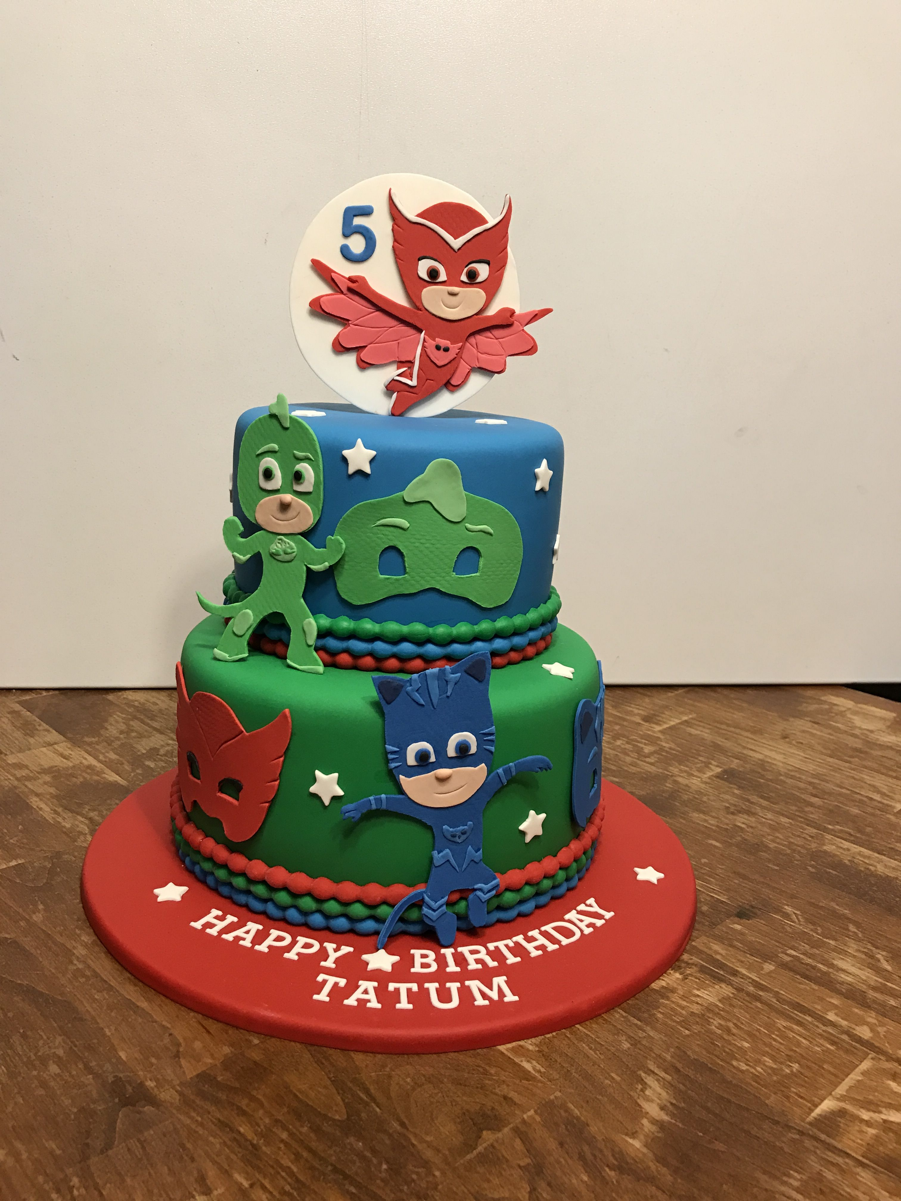 Pj Masks Birthday Cake With Images Pj Masks Birthday Cake Pj