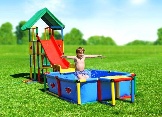 Quadro Klettergerüst Universal : Quadro universal junglegym playhouse pool modular slide