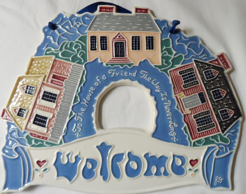 Welcome Decorative Wall Tile Hanging Art Plaque Home Decor 8.5\