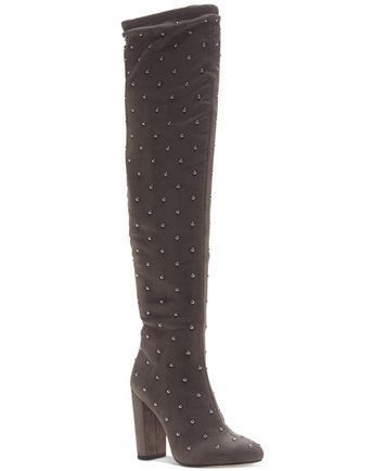 4297d9b381a Jessica Simpson Bressy Studded Over-the-Knee Boots - Gray