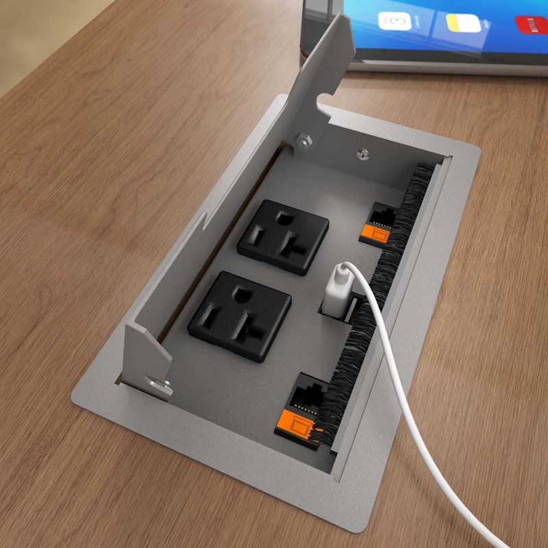 Villa silver pearl flush lid with power data and usb in use risultati immagini per usb points in meeting tables greentooth Gallery