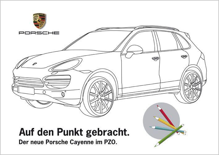 Ausmalbilder Porsche Education