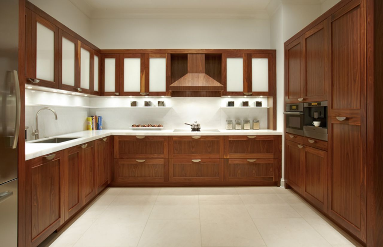 Kitchen Cabinet Doors And Drawers With White Glass Door For The