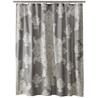 Target Home Large Medallion Shower Curtain Gray 72x72 Opens