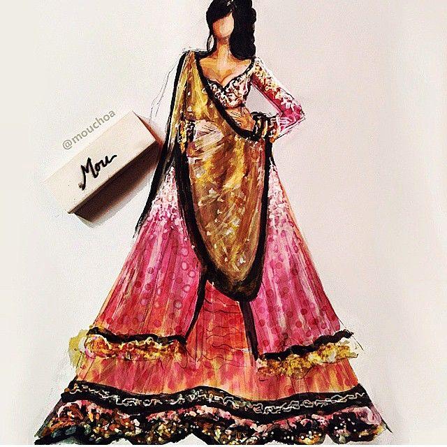 Fairytale India Fashion Illustration Dresses Fashion Design Sketches Fashion Sketches
