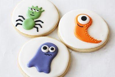 super cute monster cookies with eyeball turtorial