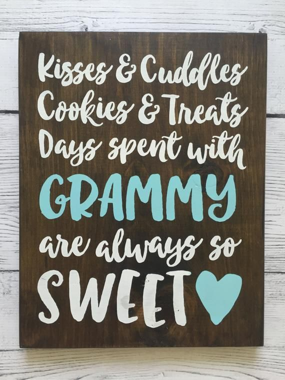 Personalized Wood Sign - Grandparent/Mother/Grandma - Kisses & Cuddles - Mother's Day/Grandparent's Gift