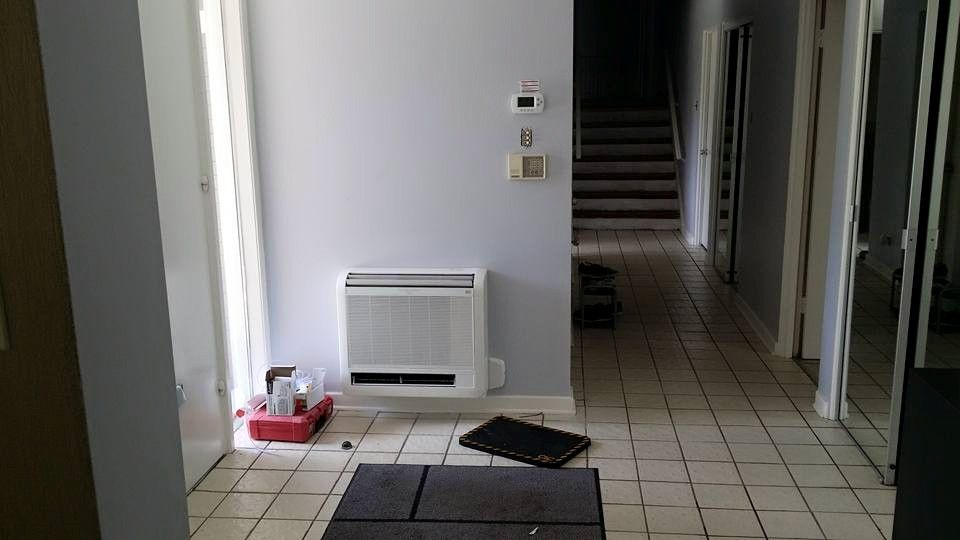 Mitsubishi Floor Mount In Front Entry Ductless Ductless Heating