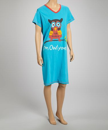 499d01caf8 Love this Blue  Owl Yours  Nightshirt - Women on  zulily!  zulilyfinds