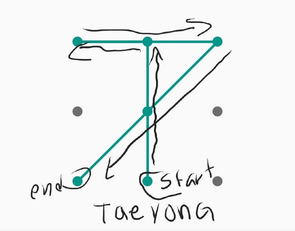 Nct Taeyong Pattern Lock Pattern Nct Taeyong Nct