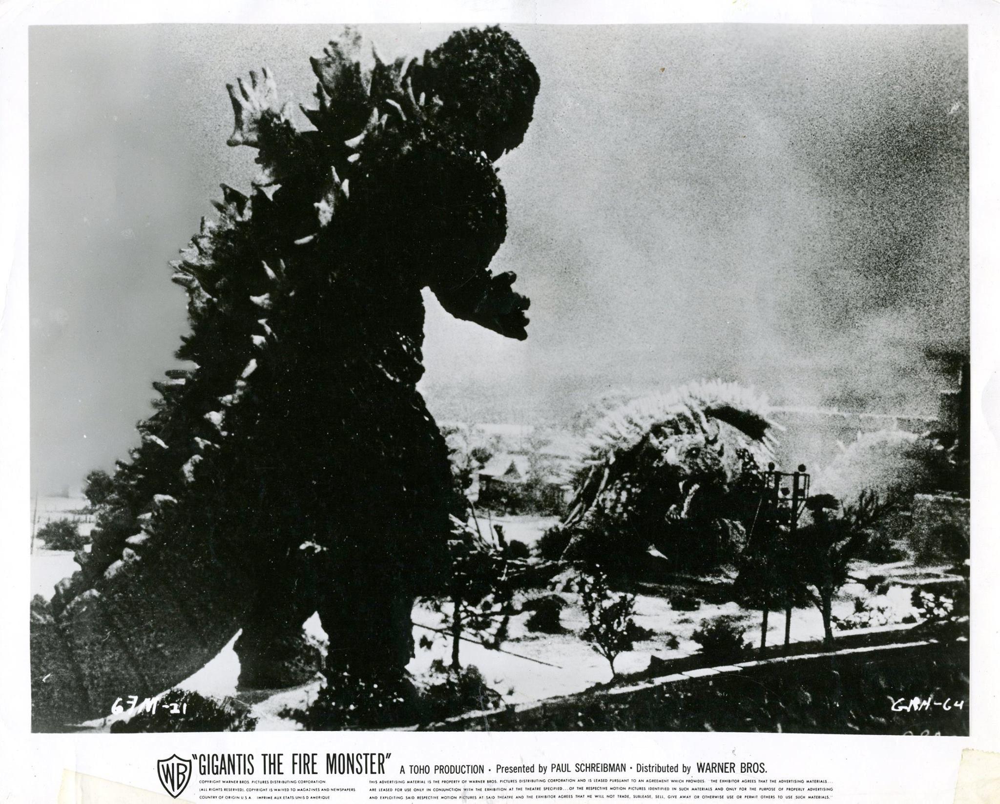 GODZILLA'S COUNTER-ATTACK (1955) aka GIGANTIS THE FIRE ...