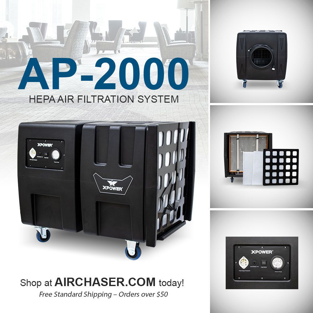 XPOWER AP2000 PORTABLE HEPA AIR FILTRATION SYSTEM in 2020