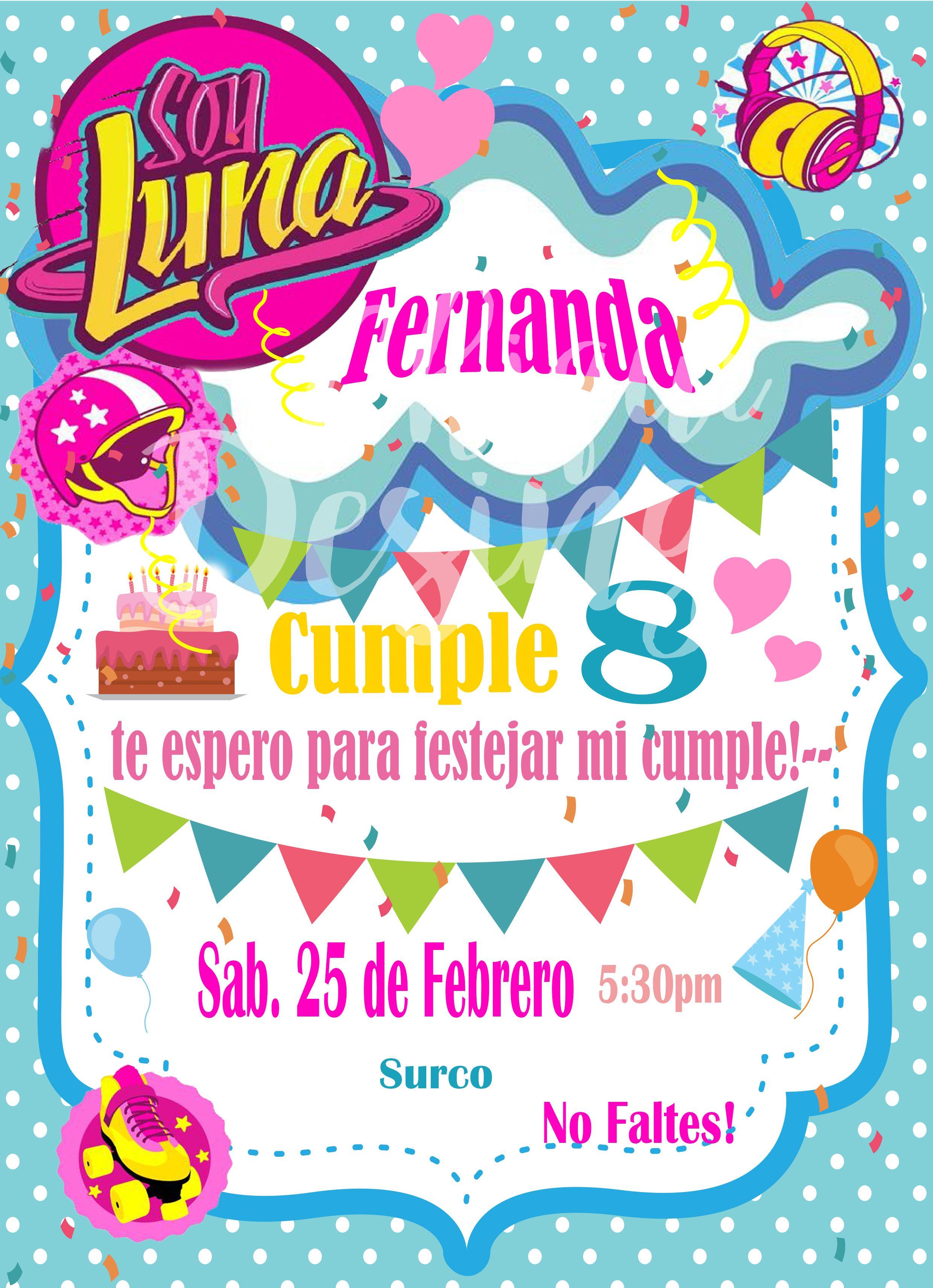 Soy Luna Invitation Soy Luna Birthday Soy Luna Invitacion