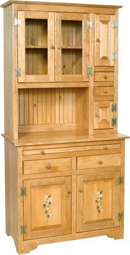 Microwave Hutch Cabinet Stand Amish County