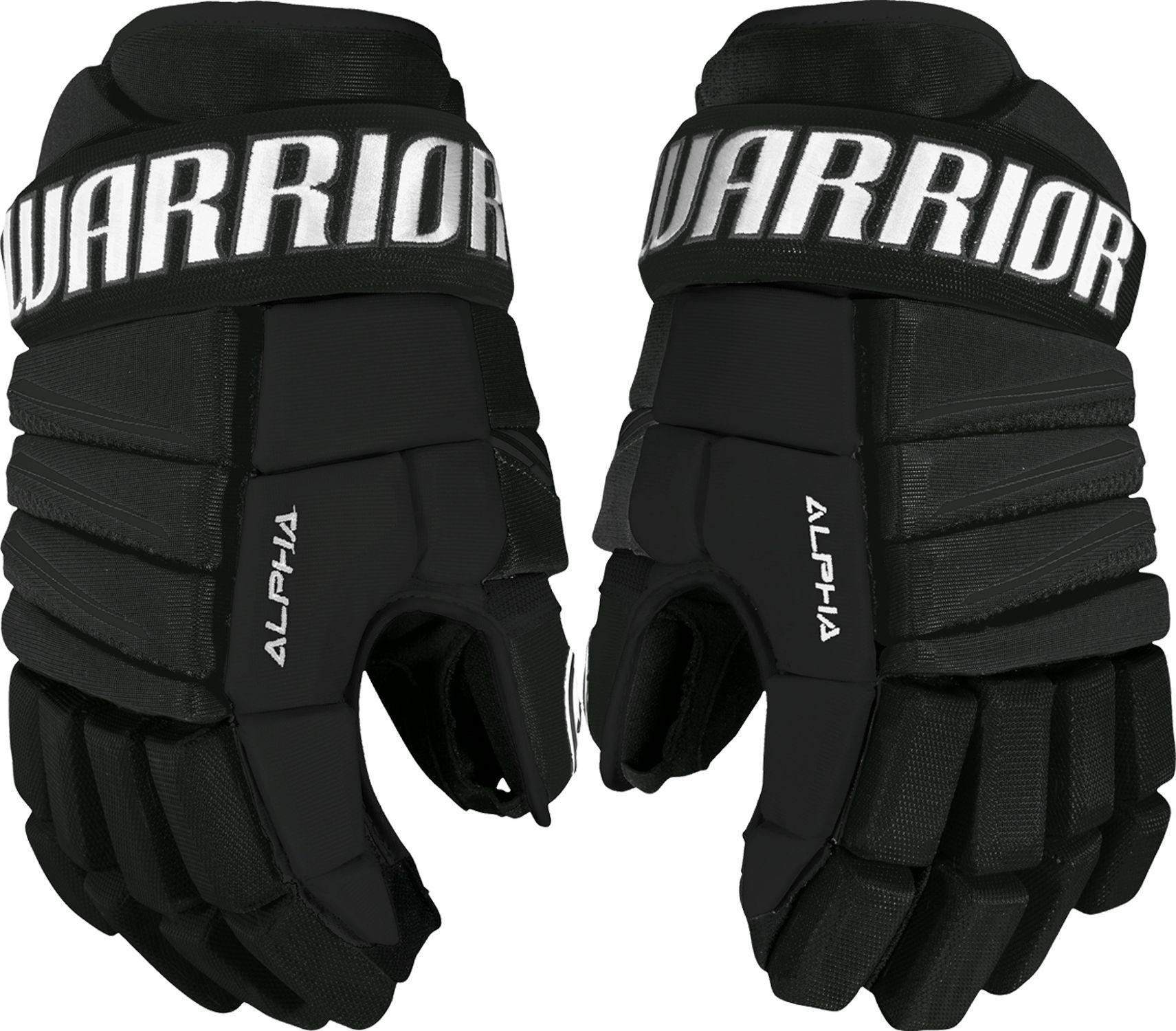 Warrior Senior Alpha Qx3 Ice Hockey Gloves Black