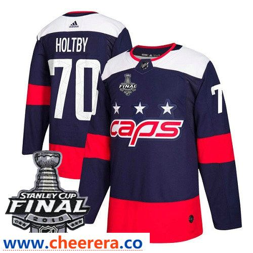 Washington Capitals  70 Braden Holtby Navy Blue Stitched Adidas NHL Men s  Stadium Series Jersey with 2018 Stanley Cup Final Patch 34064eb32