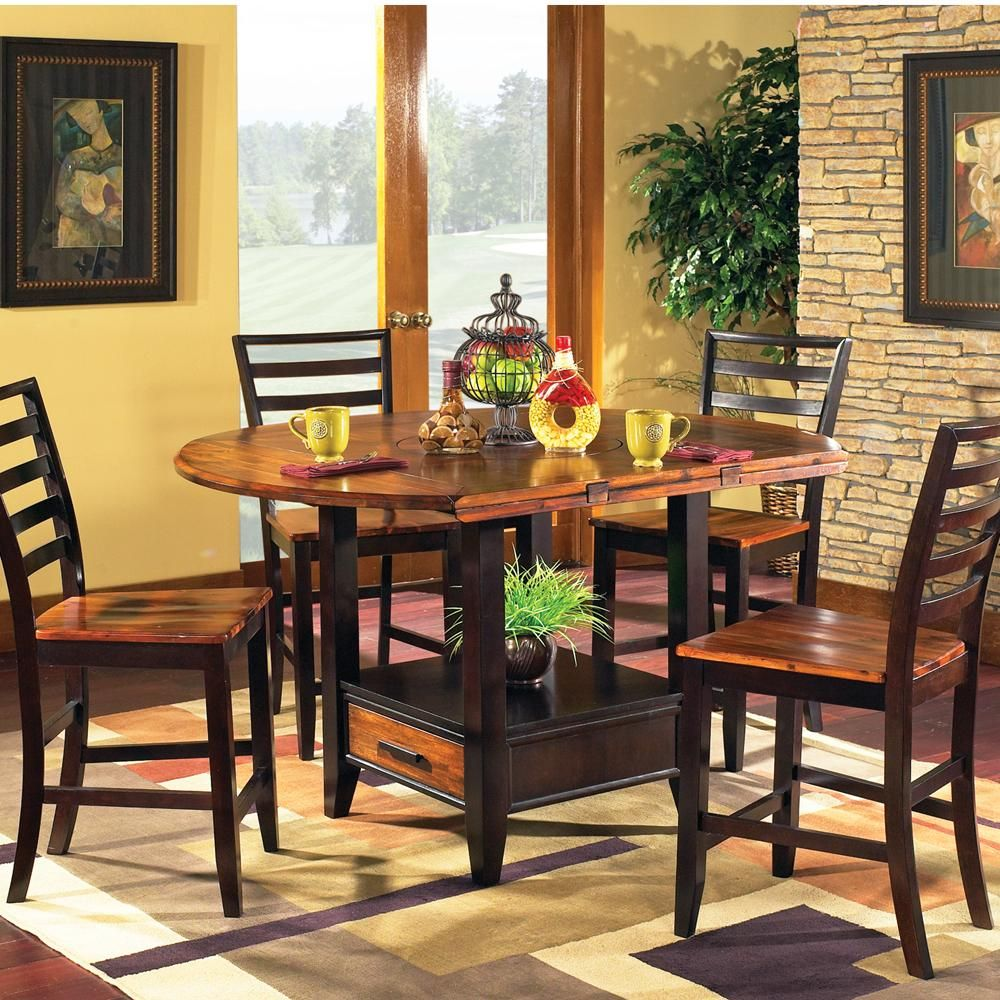 Abaco 5 Piece Square Round Gathering Table Set By Steve Silver Dining Table With Storage Counter Height Dining Sets Dining Table Chairs