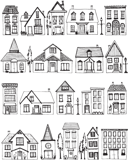 House Drawing Color: House Colouring Pages, House Drawing, House Doodle