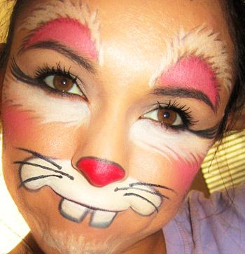 Bunny Face Paint. Rabbit Face Paint Design  Painting Ideas face painting