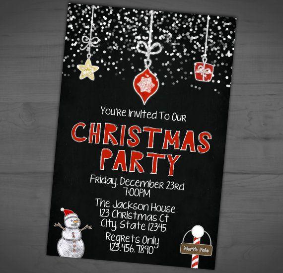 Christmas Party Invitation Winter Party by RainyZebraDesigns