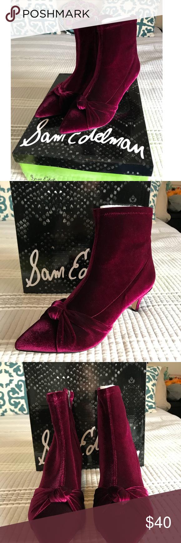216eb0e82 Sam Edelman Keena Knot Bootie - Size 8.5 New. Never worn. Velvet Sam  Edelman Keena Knot Bootie - Size 8.5 Sam Edelman Shoes Ankle Boots   Booties