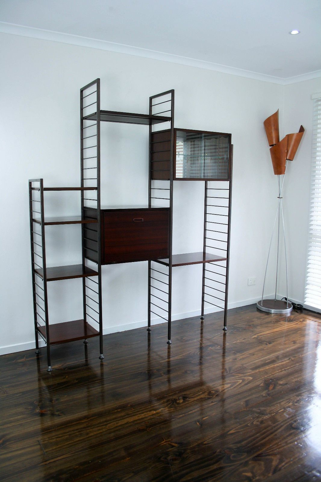MID Century Room Divider Wall Unit Desk System Retro Vintage Sideboard  Ladderax String System Style,