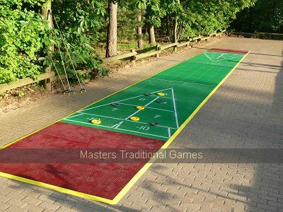 40 Foot Outdoor Shuffleboard Poly Court Package Outdoor Shuffleboard Shuffleboard Fun Outdoor Games