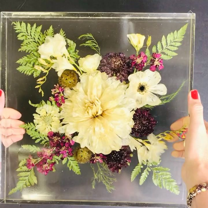 This stunning work of art will be cherished by the bride and groom for a lifetime! Enroll in Forever Flora 101 to find out how to create forever flower and resin artwork!