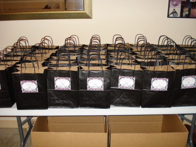 Wedding Snack Bags Welcome For Your Out Of Town Guests