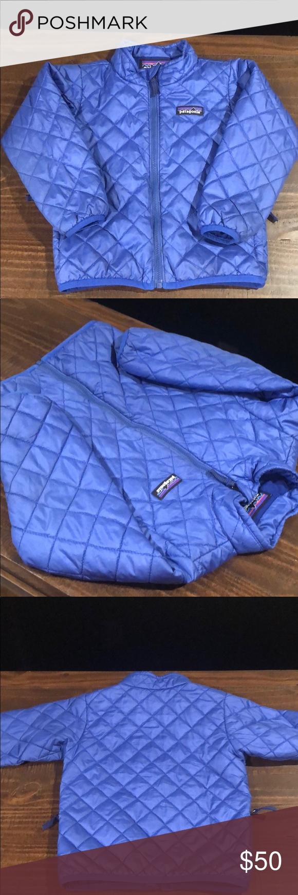 Patagonia toddler puffer coat size 3t royal blue Puffer