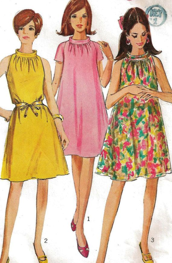 1967 Simplicity Pattern 7169 Misses\' Dress Size 14 Bust 34\
