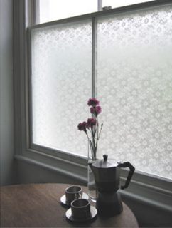 lace curtains with a modern twist...