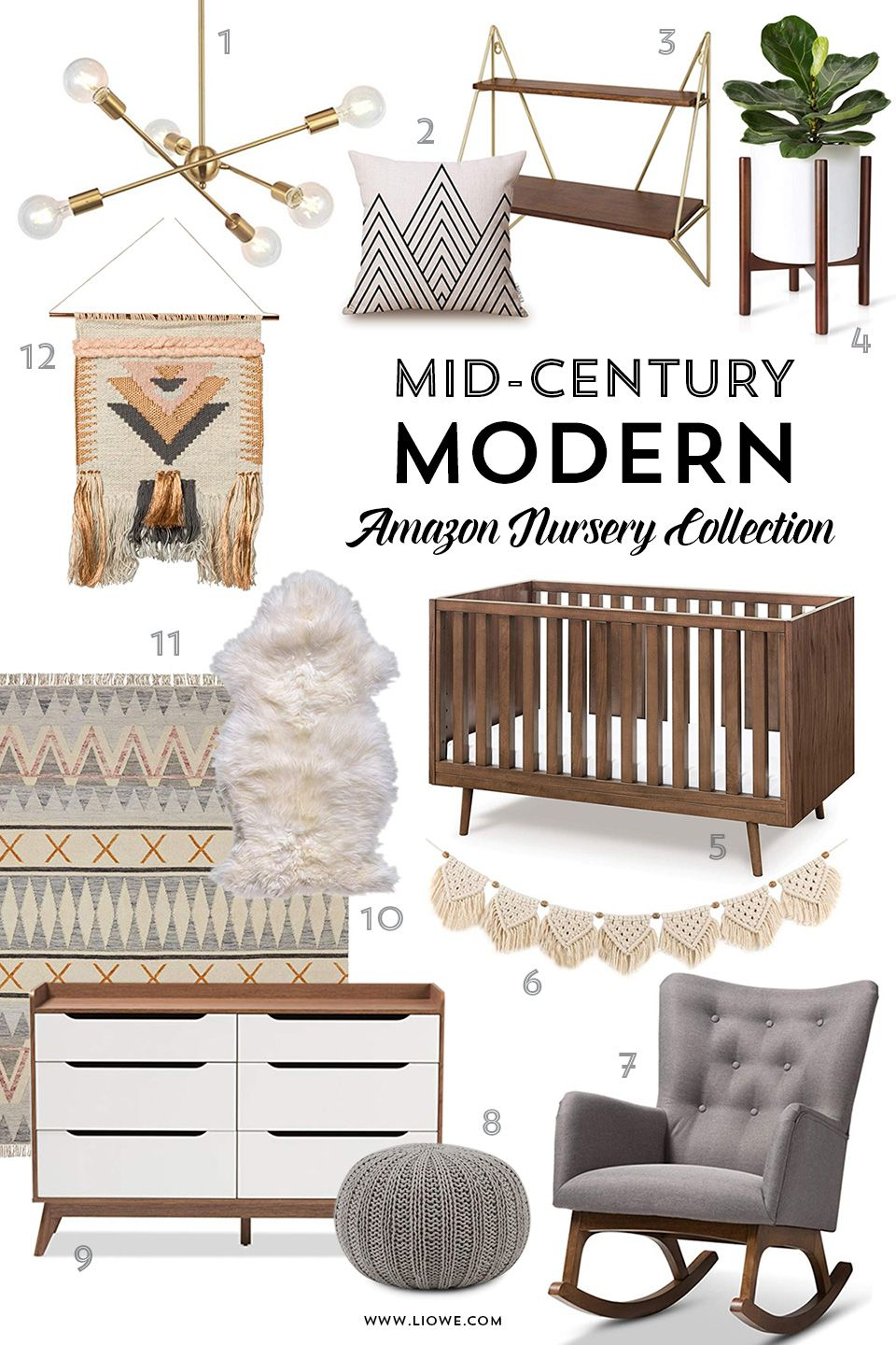 Mid Century Modern Nursery Collection Style Furniture And Accessories For Baby Room