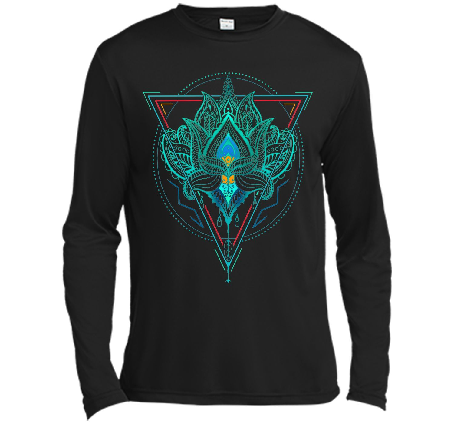 Adorable Lotus The Flower Of Life In Triangle 2017 T Shirt