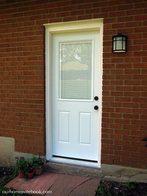 Installing An Exterior Entry Door   Our Home Notebook