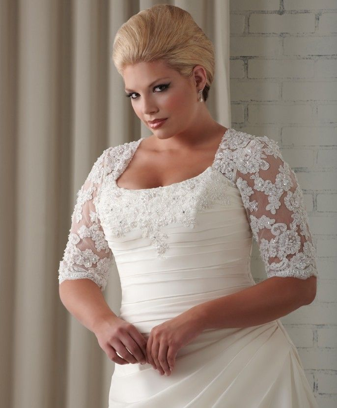 Fashion friday top plus size wedding dresses with for Lace top plus size wedding dress