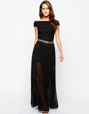 Maxi dress with belts