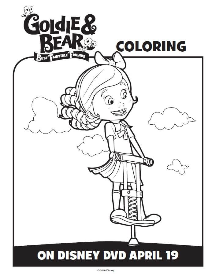 Disney Junior Goldie and Bear Coloring Pages & Activity Sheets ...