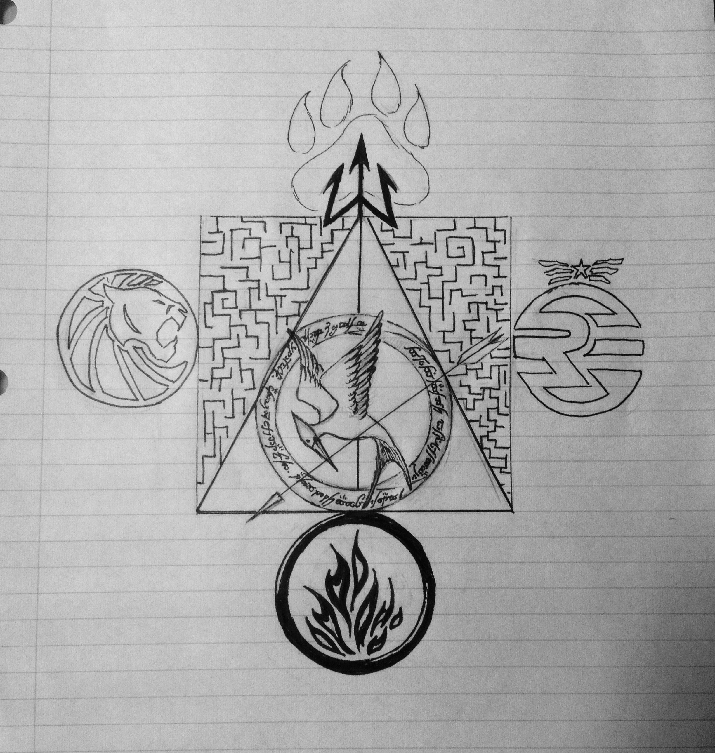 So i designed this a long time ago starting with only the deathly so i designed this a long time ago starting with only the deathly hallows symbol with biocorpaavc