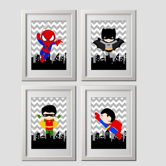 The perfect super hero PRINTS for your little ones room or ...