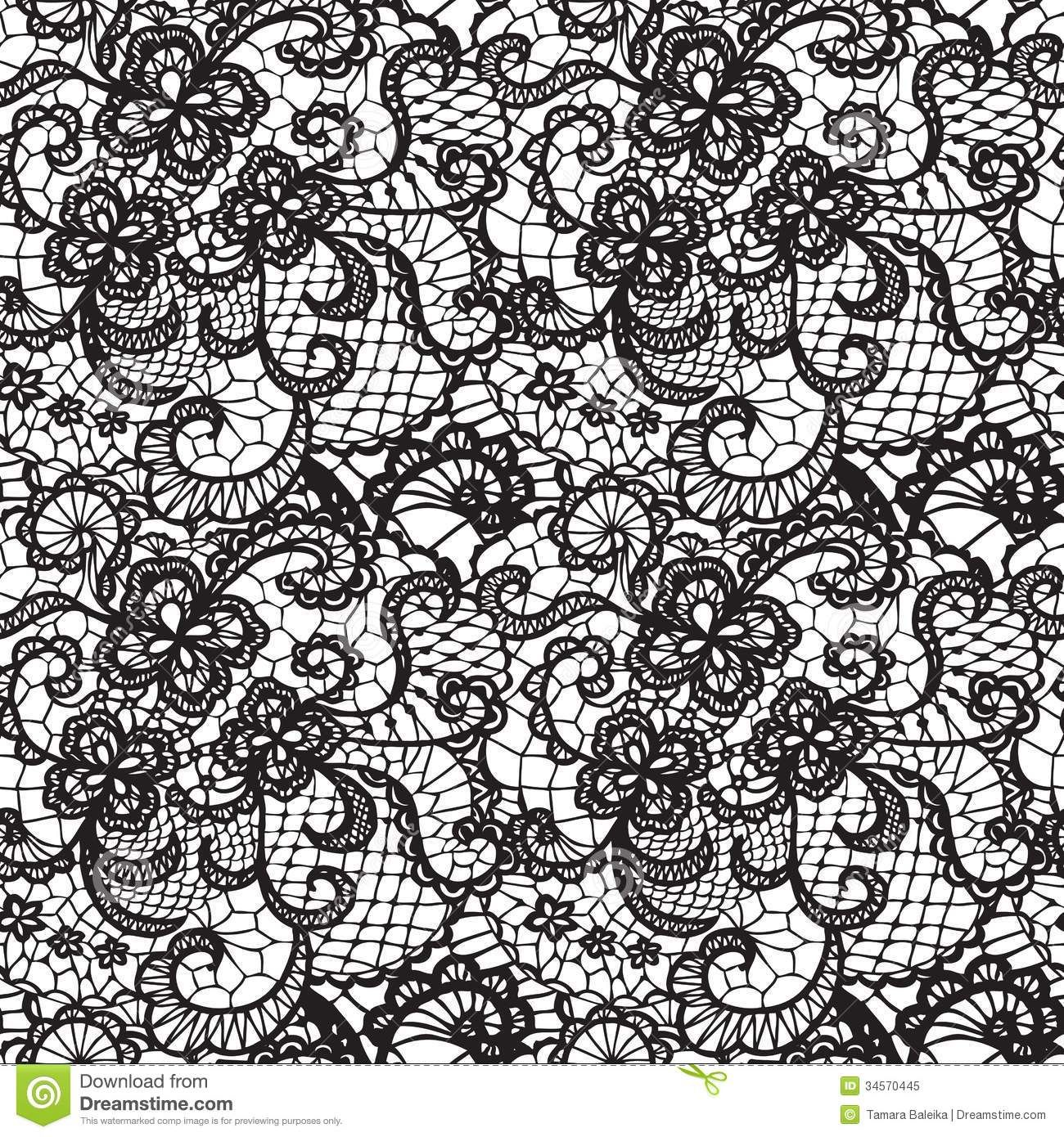 White Lace Background | Lace black seamless pattern with ...