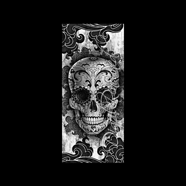 floral sugar skull black white que bonita la dia de los muertos pinterest sugar skulls. Black Bedroom Furniture Sets. Home Design Ideas