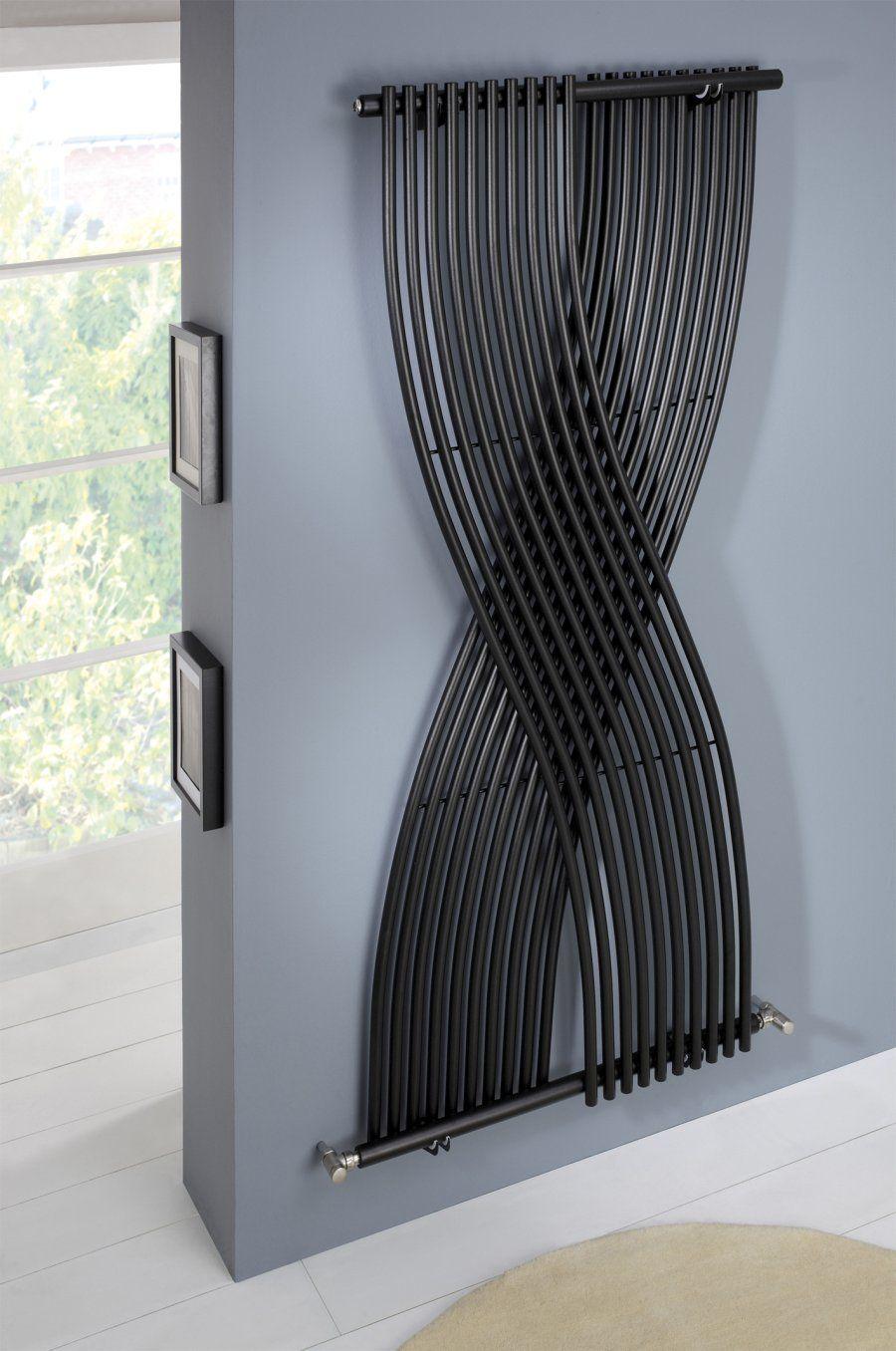 mhs gemini wall mounted radiator in matt black  radiators