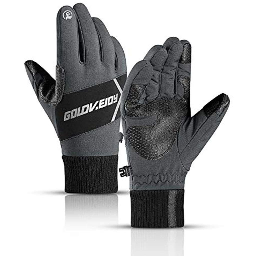 CosyInSofa Waterproof Thermal glovesWindproof Winter Gloves Touch Screen Anti-slip Gloves Cycling Gl...