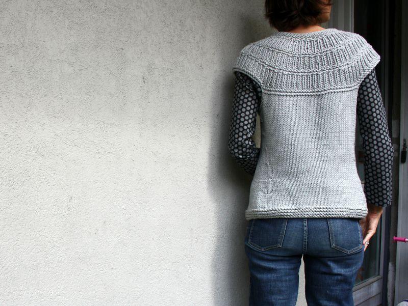 patron gratuit tricot veste sans manche