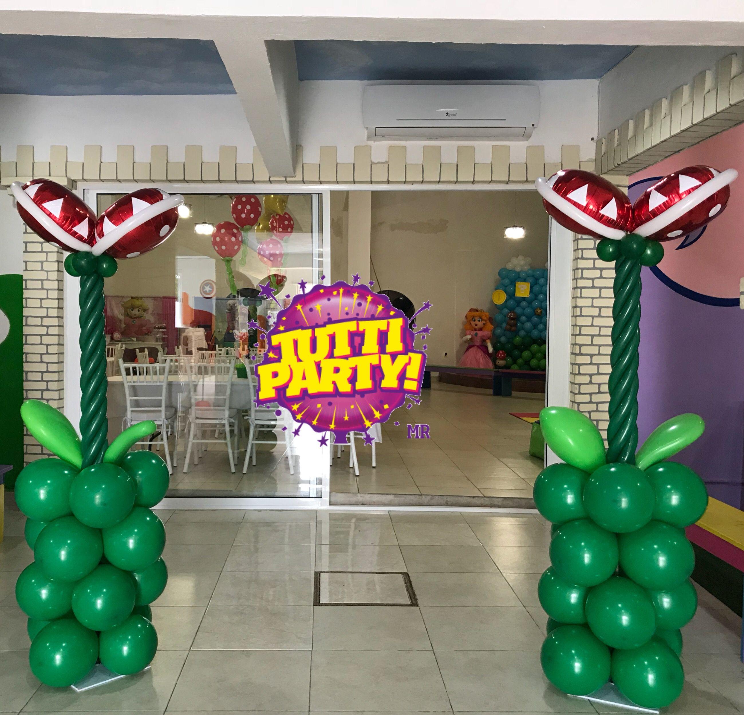 Mario Bros Decorations Ideas Mario Bros Plants Balloons