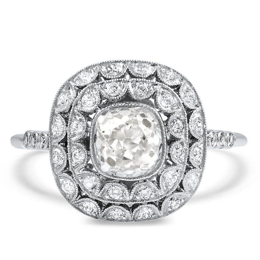 eed2dc37f Art Deco Reproduction Diamond Vintage Ring | Wedding Ideas | Rings ...