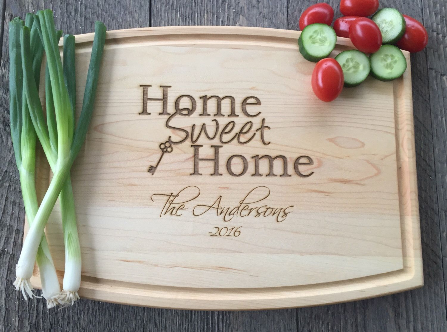 Cutting board realtor closing gift home sweet home
