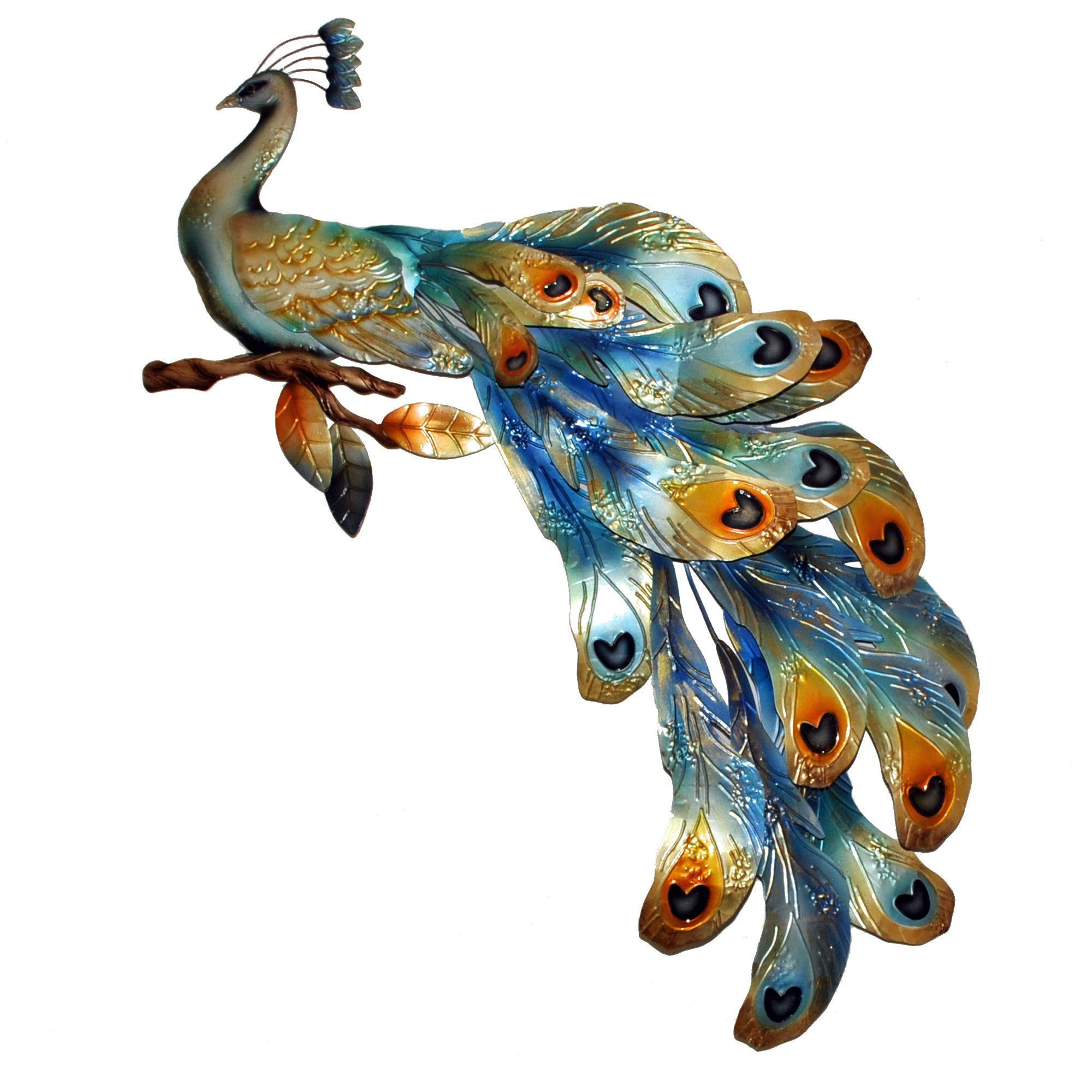 Peacock seated figurine peacocks and products