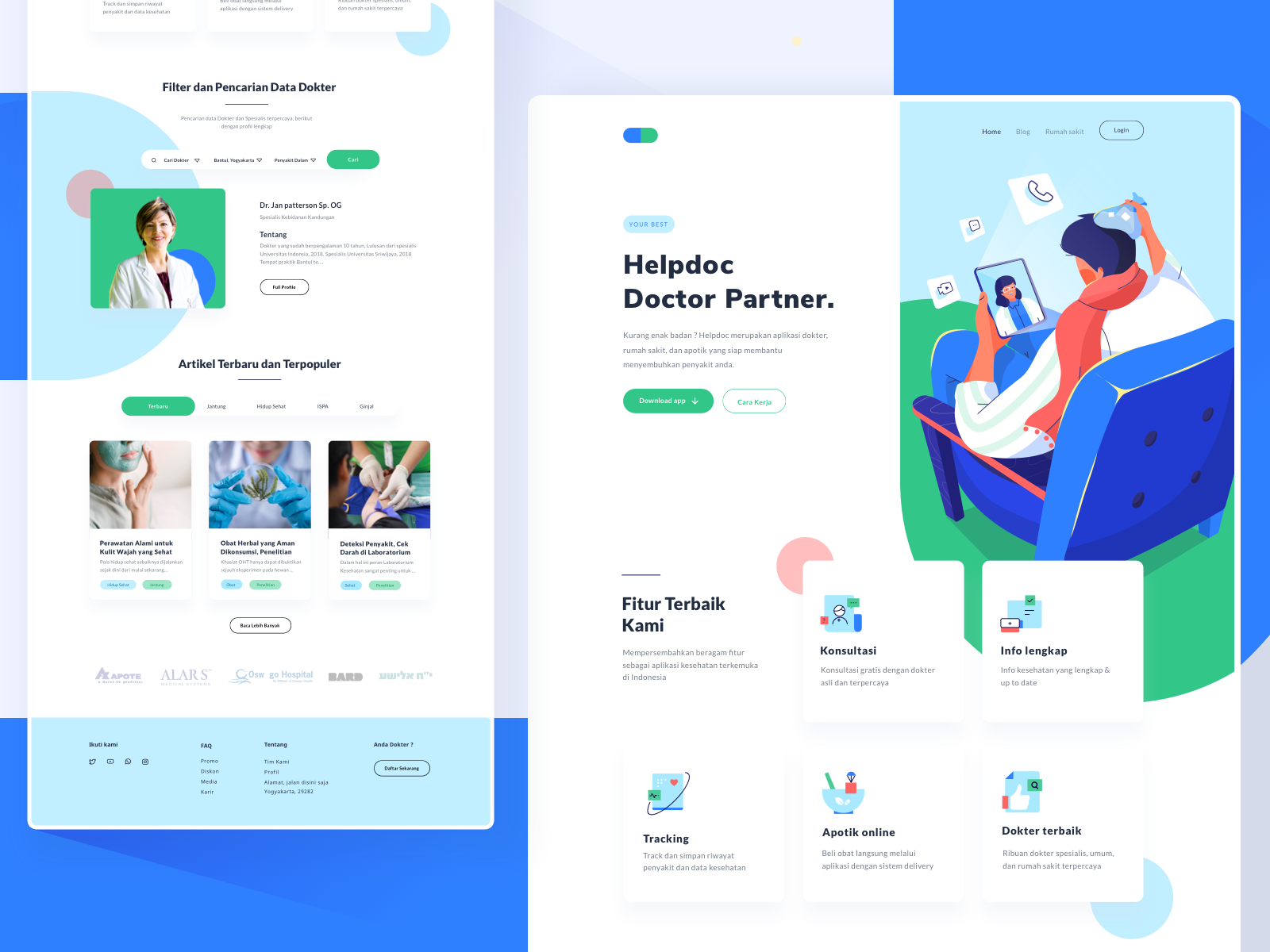 Helpdoc Landing Page Best landing pages, User interface